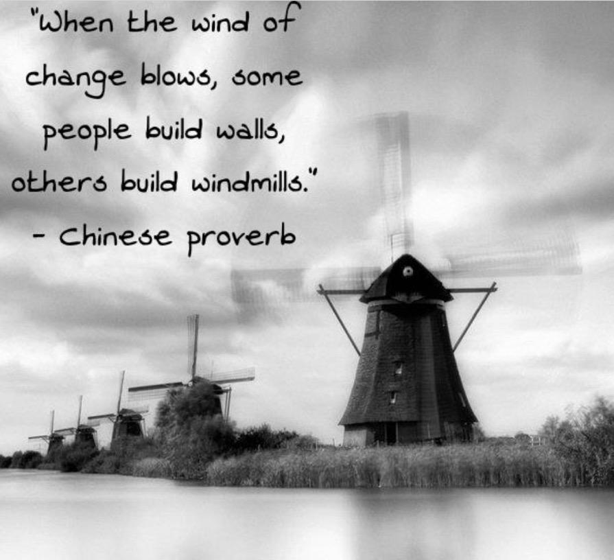 Wenn der Wind des Wandels weht