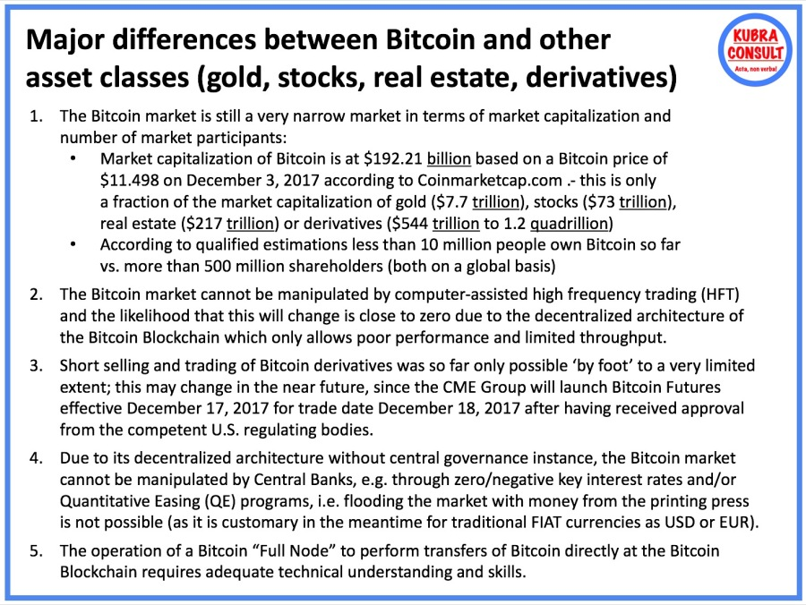 2017-12-03_KuBra Consult - Major differences between Bitcoin and other Asset Classes (white layout)
