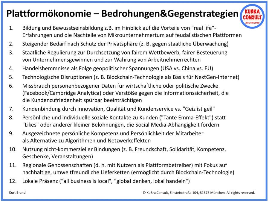 2018-06-19_KuBra Consult - Plattformökonomie - Bedrohungen und Gegenstrategien