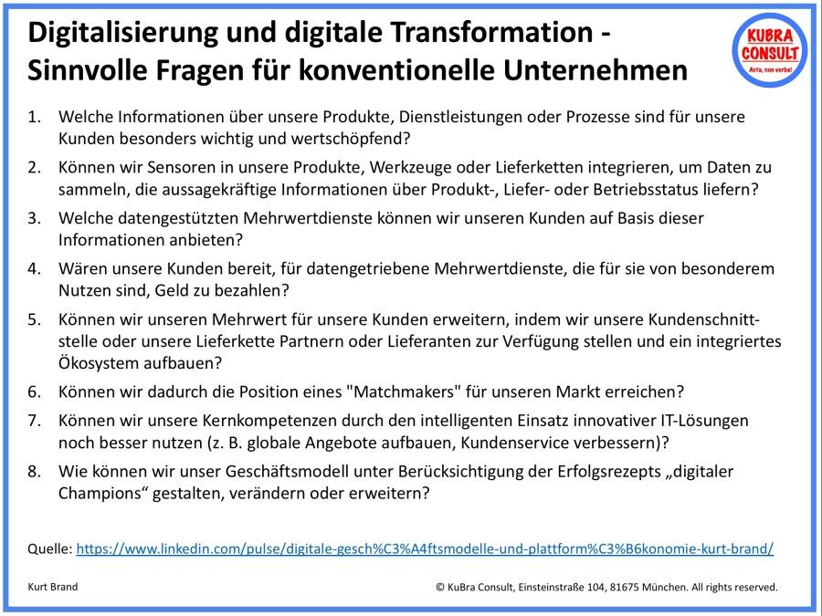2018-07-31_KuBra Consult - Digitalisierung - sinnvolle Fragen für konventionelle Unternehmen