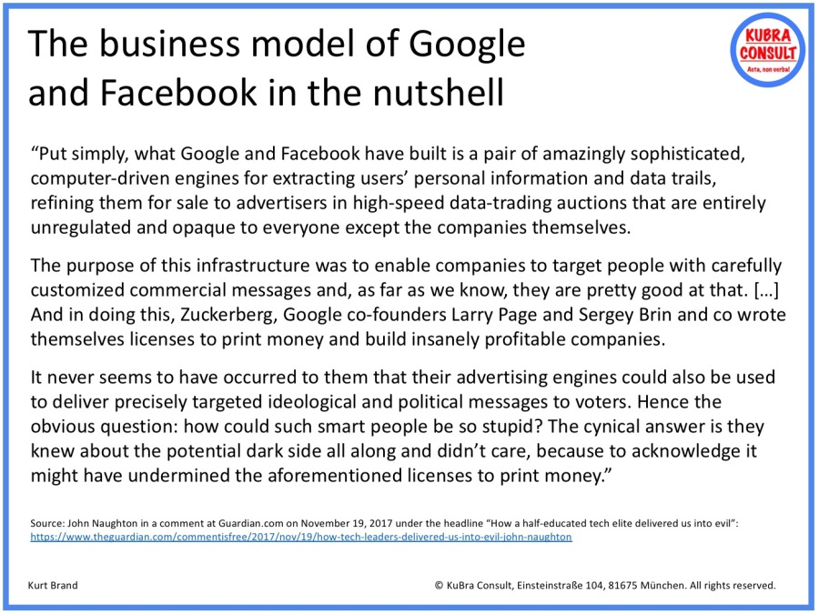 2017-11-19_KuBra Consult - The Business Model of Google und Facebook at a glance (white layout)