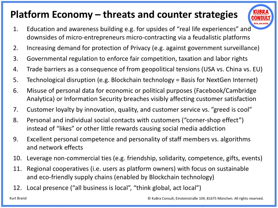 2018-06-19_KuBra Consult - Platform Economy - Threads and Counter Strategies
