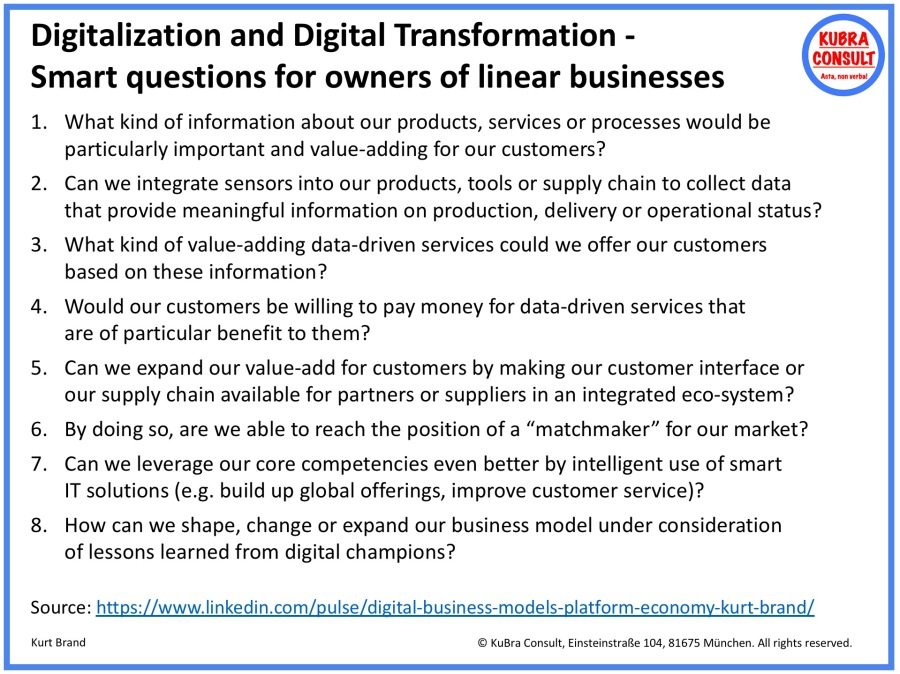 2018-07-31_KuBra Consult - Digitalization - Smart questions for owners of linear businesses