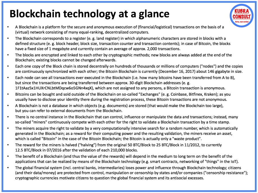 2017-12-17_KuBra Consult - Blockchain technology at a glance (white layout)