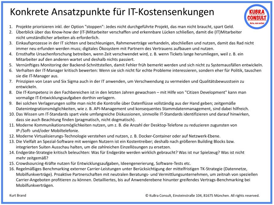 2018-05-14_KuBra Consult - Konkrete Ansatzpunkte für IT-Kostensenkungen