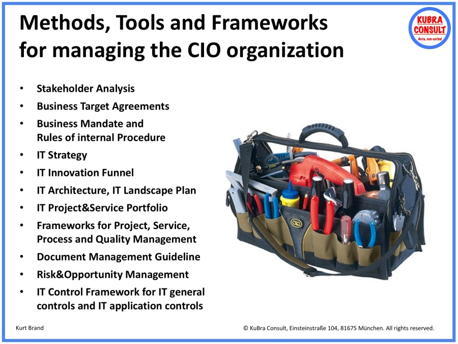 2018-05-18_KuBra Consult - Methods, tools and frameworks for managing IT organizations