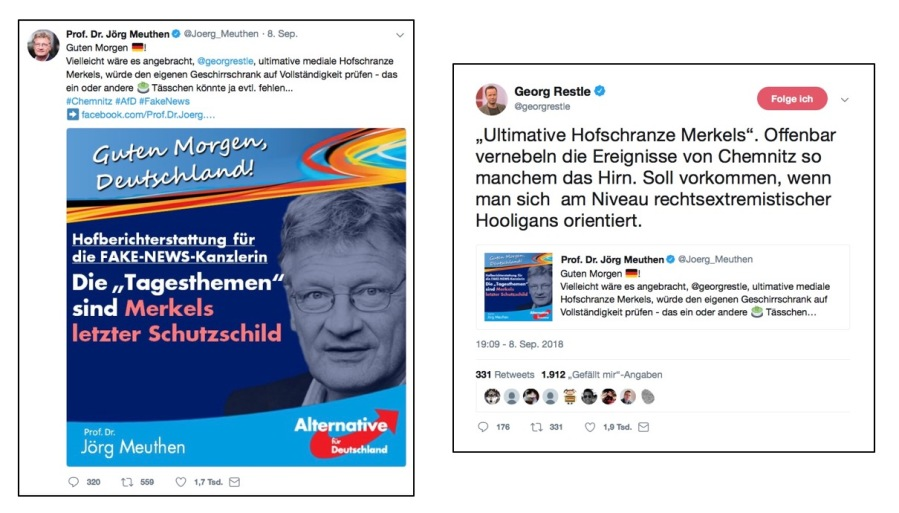 Tweet-Gefecht zwischen Meuthen und Restle