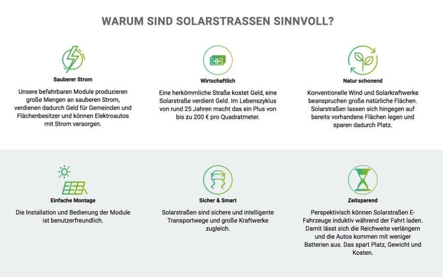 Vorteile von Solarstraßen